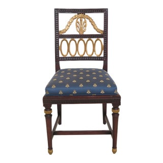 1990s Vintage William Switzer Regency Style Occasional or Desk Chair For Sale