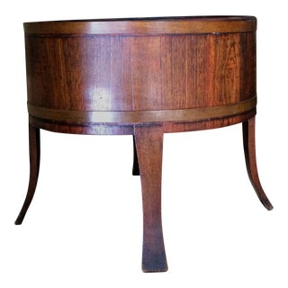 Vintage French Wood Barrel Planter