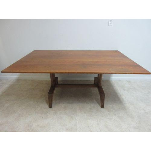 Vintage Mid Century Jamestown Lounge Co Oak Dining Table Chairish - Mid century oak dining table