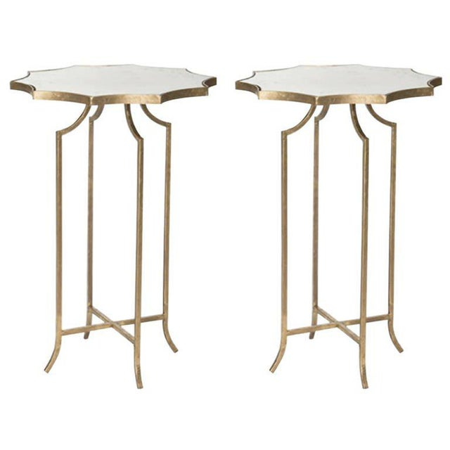 Charming Pair of Diminutive Drinks Tables in the Style of Maison Baguès - Image 3 of 3