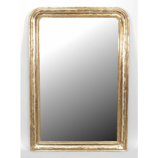 French 19th Century French Victorian Silver Gilt Wall Mirror For Sale - Image 3 of 3