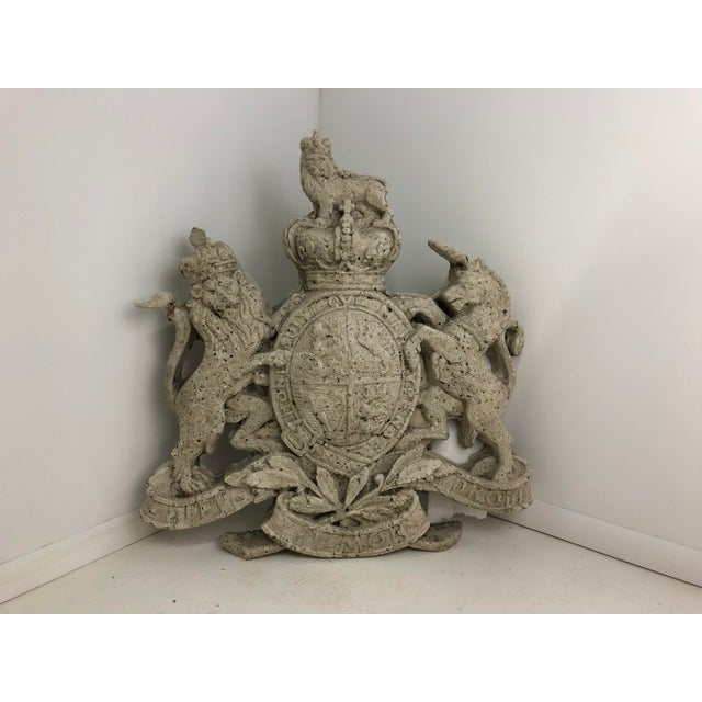 Cast Stone British Royal Coat of Arms For Sale - Image 11 of 11