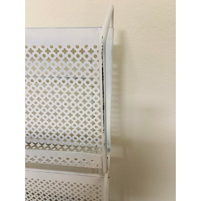 Mid 20th Century 1950s Folding Iron Magazine Book Stand Display Rack Shelf For Sale - Image 5 of 13