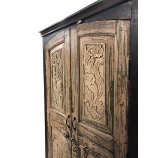 1920s Rustic Indian Wooden Armoire Storage Wardrobe Cabinet Preview