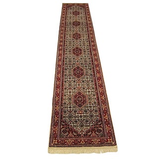Shiraz - Indo Bijar Runner Rug - 2′5″ × 13′11″ For Sale