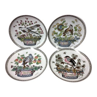 Hutschenreuther Bird Plates - Set of 4 For Sale