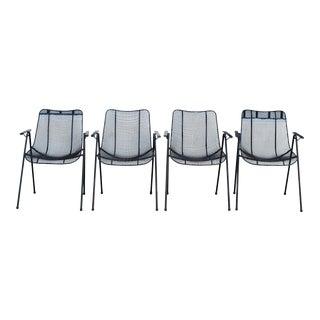 Vintage Black Russell Woodard Armchairs – Set of 4 For Sale