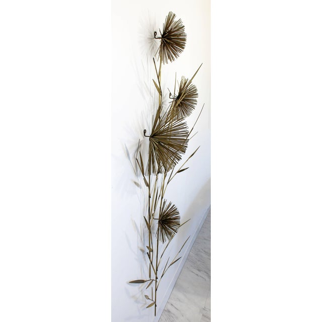 Curtis Jere 1970s Mid-Century Modern Curtis Jere Pom Pom Wheat Sheaf For Sale - Image 4 of 7