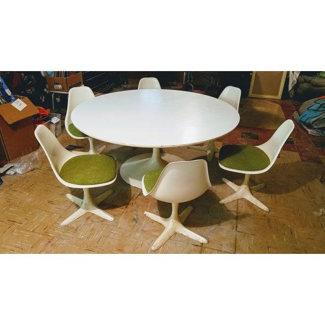 Burke Saarinen Tulip Table & 6 Chairs For Sale - Image 9 of 11
