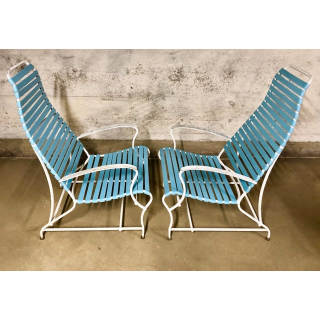Pair of Mid Century Modern High Back Patio Lounge Chairs For Sale In Boston - Image 6 of 13