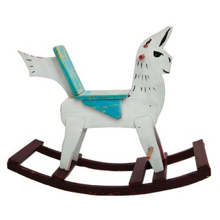 "Vintage ""Rocking Llama"" Folk Art For Sale"