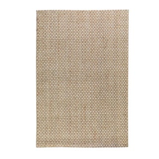 Basket Weave Natural Bleach Rug - 5' x 8' For Sale
