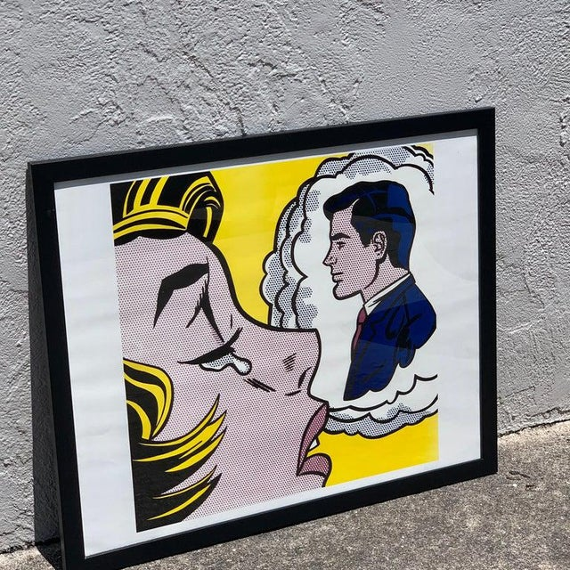 """Glass After Roy Lichtenstein """"Thinking of Him"""" For Sale - Image 7 of 9"""