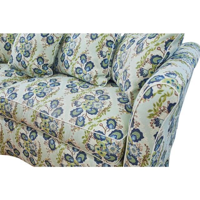 Traditional Custom Sofa in Ferrick Mason's Heather - Soft Jade For Sale - Image 3 of 6