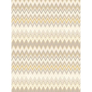 Scalamandre Zig Zags, Gold Wallpaper For Sale
