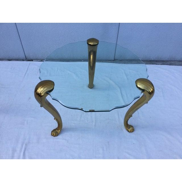 1970's Modern Tripod Brass Side Tables - 2 - Image 11 of 11