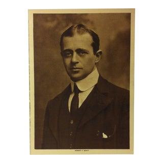 """Circa 1915 """"Robert F. Scott"""" the Mentor Association Print For Sale"""