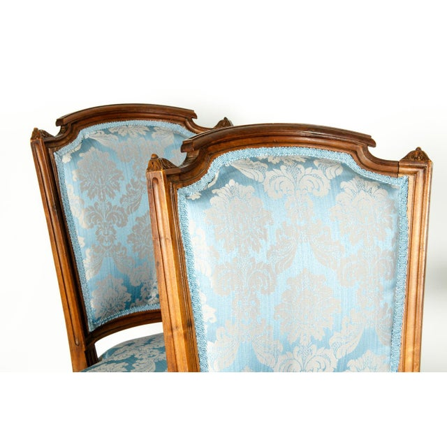 Antique French Settee With Chairs Seating Set - 3 Pc. Set For Sale - Image 11 of 13