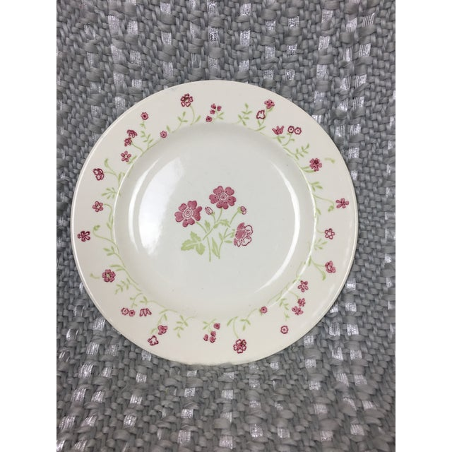 Shabby Chic Mismatched Floral China Plates- Set of 4 For Sale - Image 4 of 13