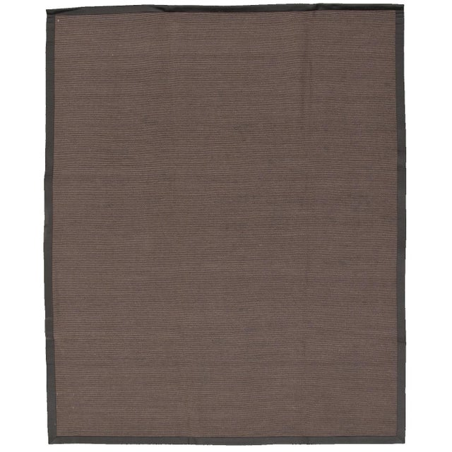 """Handmade Jute Black and Brown Rug-8'10"""" X 11'6"""" For Sale - Image 9 of 9"""