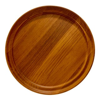 1960s Mid-Century Scandinavian Danish Modern Teak Platter by Henning Koppel for Georg Jensen For Sale