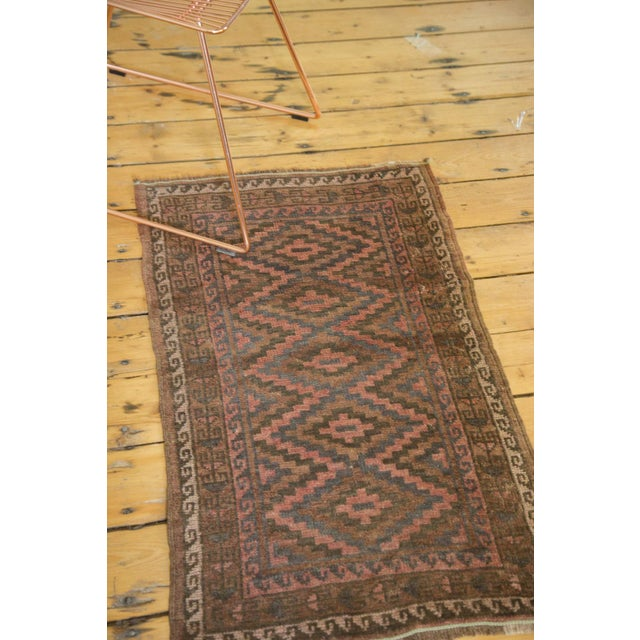 "Vintage Afghani Rug - 2' x 3'3"" For Sale - Image 4 of 6"