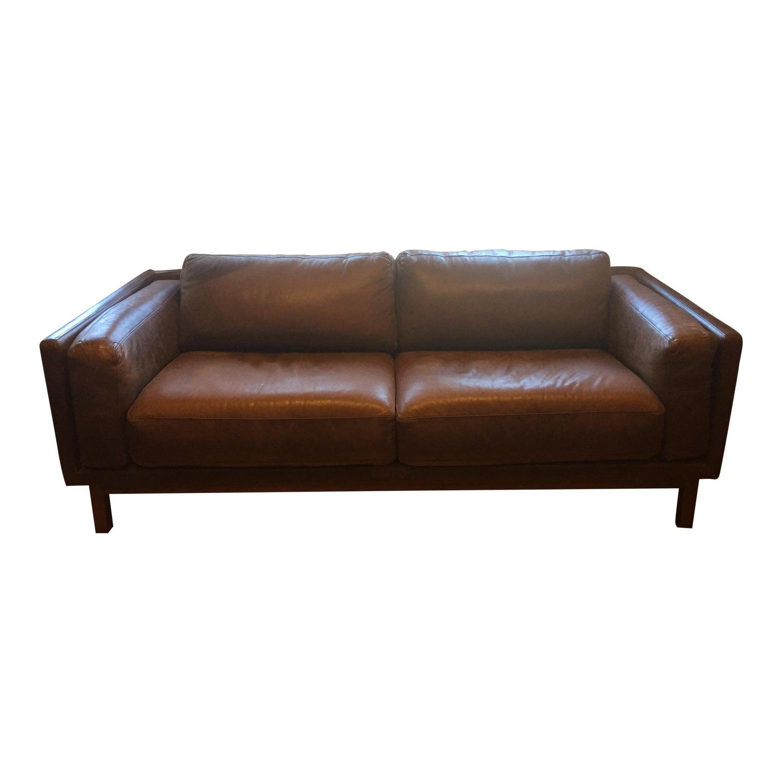 Amazing West Elm Leather Dekalb Sofa Theyellowbook Wood Chair Design Ideas Theyellowbookinfo