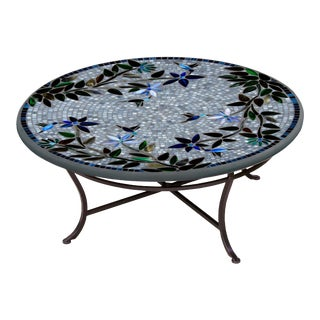 """Royal Hummingbird 36"""" Coffee Table with Black Base For Sale"""