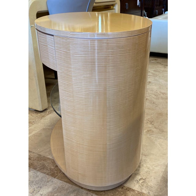"""J. Robert Scott """"Cilindro"""" stands designed by Hall of Fame interior designer Sally Sirkin Lewis and customized with..."""