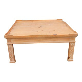 Century Furniture Mid-Century Pine Coffee Table For Sale