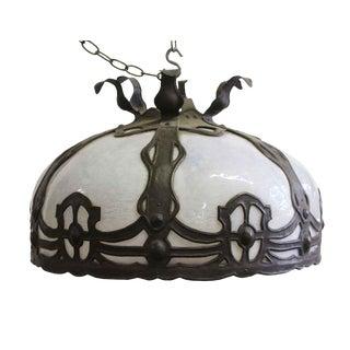 Antique Bronze Arts & Crafts Pendant Light For Sale