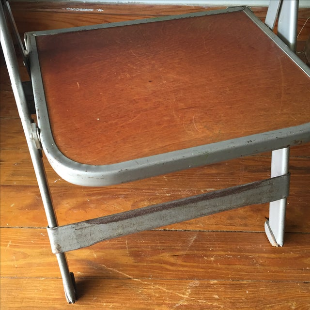 Vintage Metal School Photo Child's Chair For Sale - Image 7 of 8