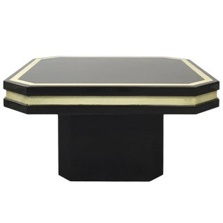 Dark Brown Lacquer Side Table For Sale