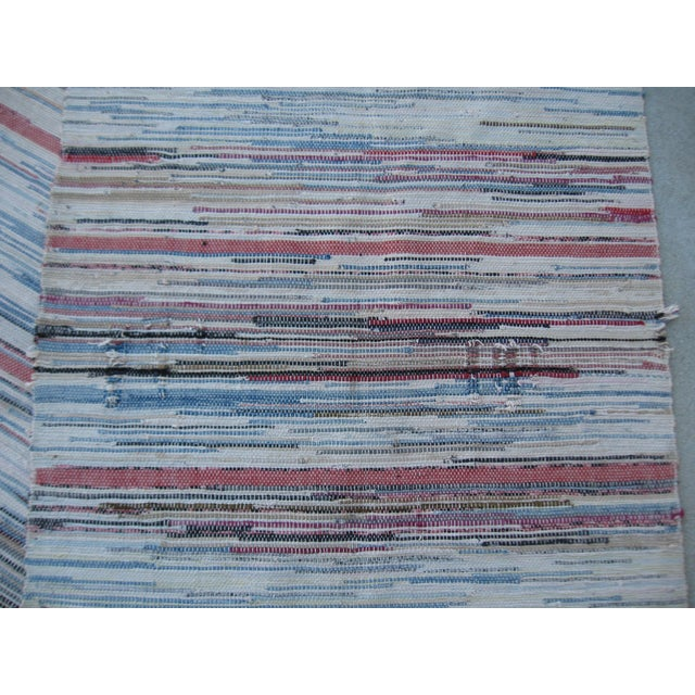 Americana Rag Rug Runner - 2′8″ × 10′4″ - Image 3 of 8