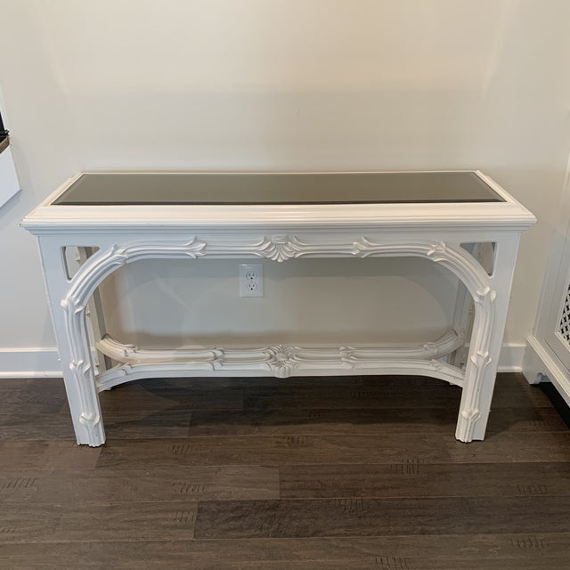 Mid Century Regency Serge Roche Console Table For Sale - Image 10 of 12