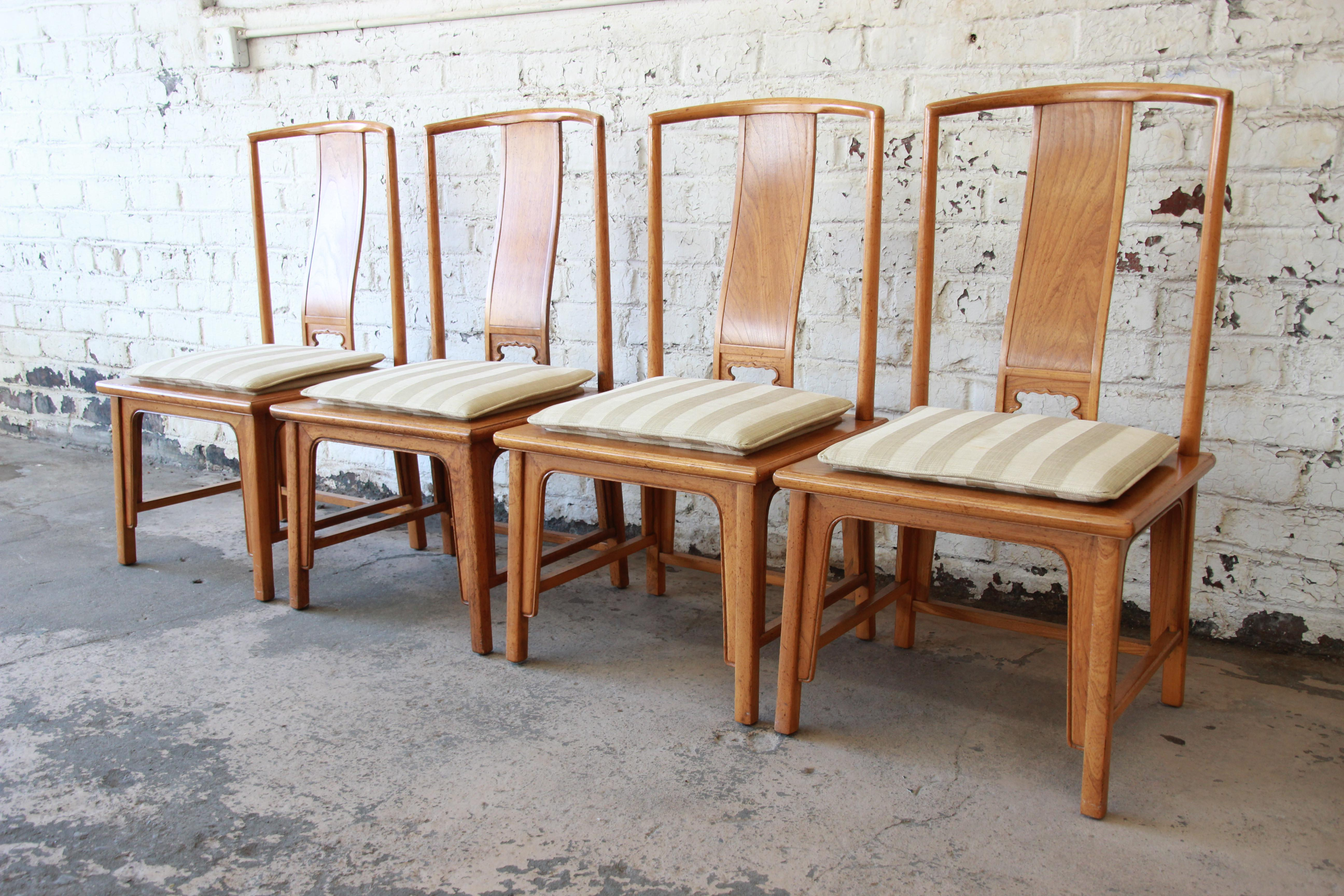 Baker Furniture Chinoiserie Ming Dining Chairs   Set Of 6 For Sale In South  Bend