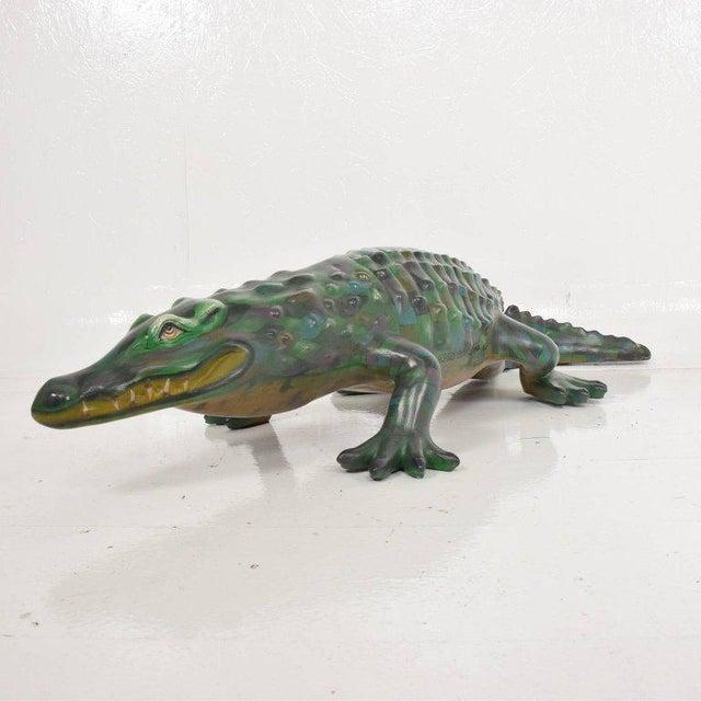 Sergio Bustamante Whimsical Sergio Bustamante Papier Mâché Crocodile Sculpture, Mexico, 1970s For Sale - Image 4 of 12