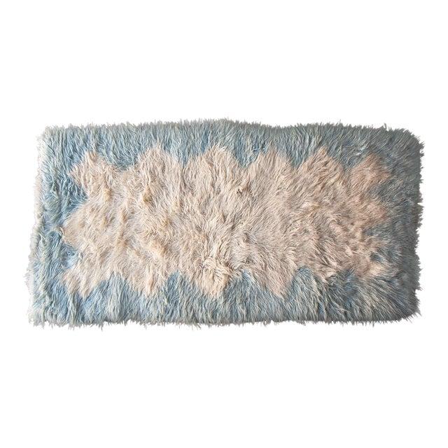 Vintage Danish Wool Rya Rug Denmark Circa 1960 For Sale