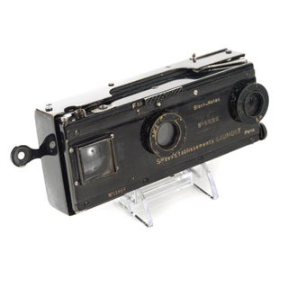 Vintage Gaumont Paris Stereo Camera Circa 1900s For Sale