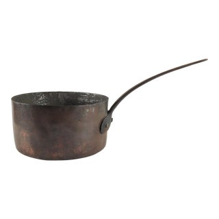 Hand Forged Copper & Iron Pot For Sale