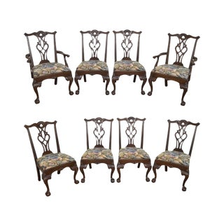 Henredon Rittenhouse Square Chippendale Ball & Claw Dining Chairs - Set of 8