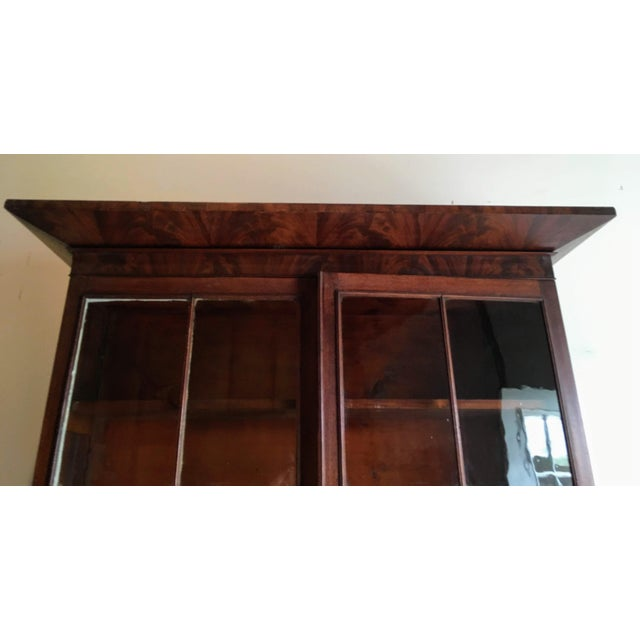Early 19th Century American Empire Secretary With Glass Door For Sale - Image 5 of 11