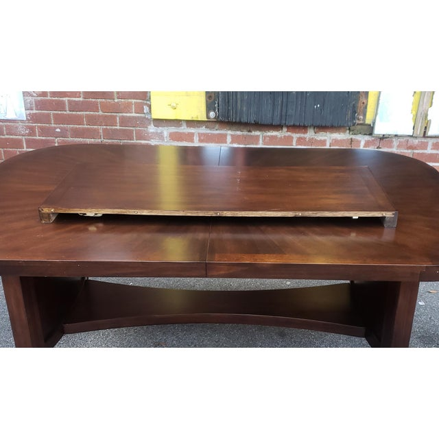 Decent Mahogany Finished Trestle Style Dining Room Table W