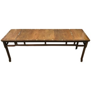 Chinese Republic Low Rectangular Table, Hardwood Inlaid With Mother of Pearl For Sale