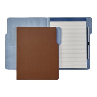 Hugo Folder, Bonded Leather in Tan For Sale