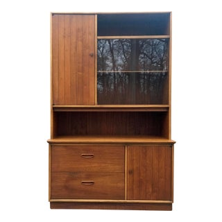 1960s Lane Mid Century Danish China Cabinet For Sale