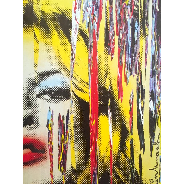 """Yellow Mr. Brainwash """" Kate Moss """" Rare Authentic Lithograph Print Pop Art Poster For Sale - Image 8 of 13"""