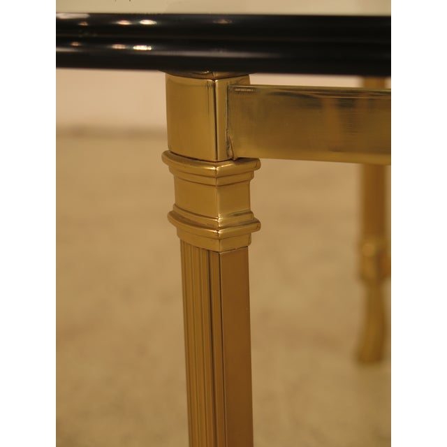 Labarge Glass Top Brass Base Coffee Table For Sale In Philadelphia - Image 6 of 10