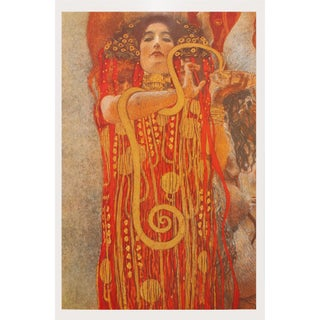 "1996 Gustav Klimt ""Hygieia"" Second German Edition Small Poster For Sale"