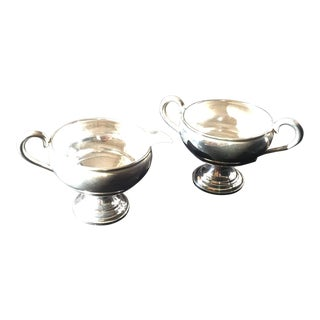 Sterling Silver Creamer & Sugar Bowls - a Pair For Sale